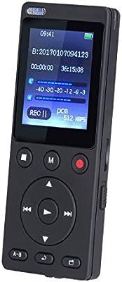 8 GB Grabadora de Voz Digital con función Altavoz y Reproductor de MP3 con Dual de 360 Grados Registro Pantalla TFT de 1.8 pulgadas,Ideal para Entrevistas, Reuniones, Clases etc , Negro ( AGPTEK A11)