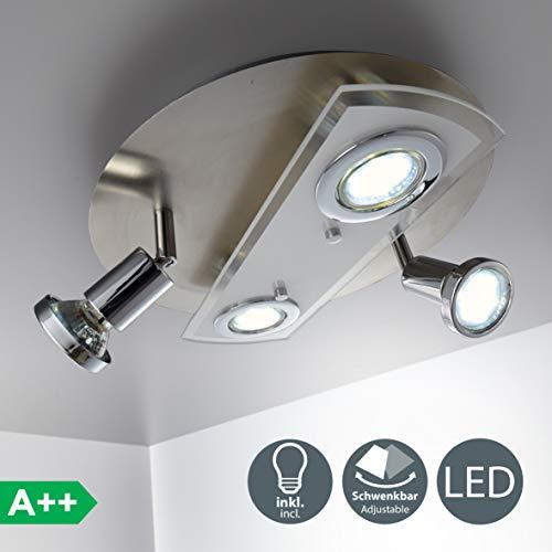 Lámpara de techo redonda Ø 290mm I 4 x 3 W bombillas...