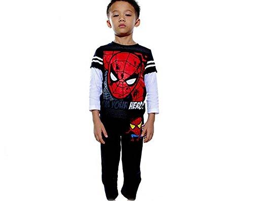 pigiama-spiderman-100-cotone-4-5-6-7-anni-nero-4-anni