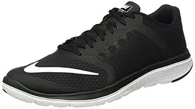 c8a7fa6af927 Nike Men s Fs Lite Run Black and Aviator Grey Mesh Running Shoes - 10 UK