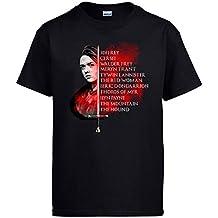 Camiseta Game of Thrones Juego de Tronos Lista de Arya Stark