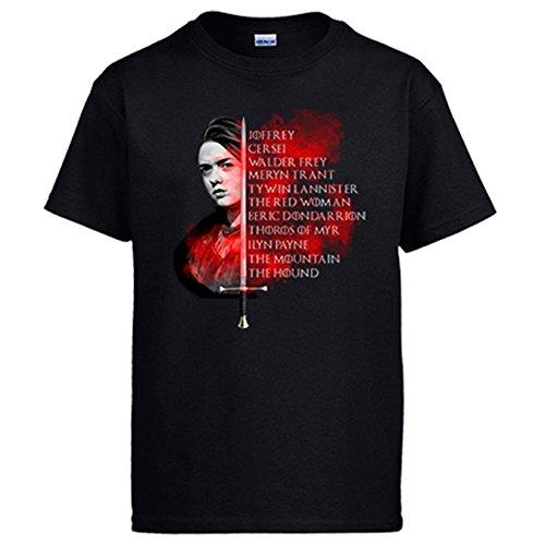 Diver Camisetas Camiseta ilustración Tributo Lista de Arya Stark 1