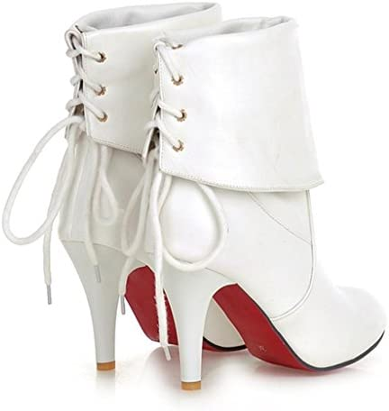 DZW Zapatos de tacón de cuero de tacón alto de tacón alto para mujer personalidad