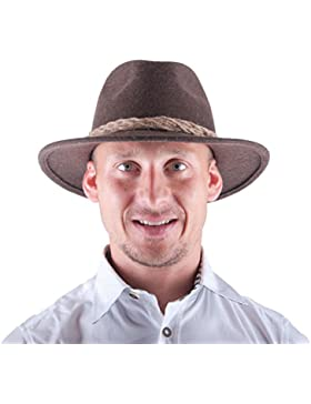 Almwerk Herren Tiroler Trachten Hut Filzhut Wanderhut , Farbe:Braun;Hutgröße:60