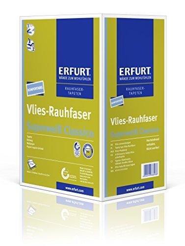 Erfurt Vlies-Rauhfaser   Superweiss Classico - 1 Karton, 12 Rollen