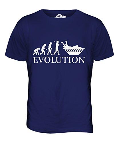 CandyMix Containern Evolution Des Menschen Herren T Shirt Navy Blau