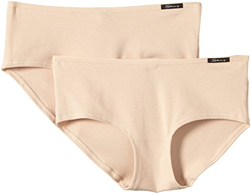 Underwear Pack Womens Cotton (Skiny Damen Pant 2-er Pack,NA, 2654 / Advantage Cotton Women Da. Panty DP, Gr. 40 (40), Hautfarben (SKIN 9622))