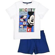 Pijama corto blanco y azul Disney Mickey Ratón