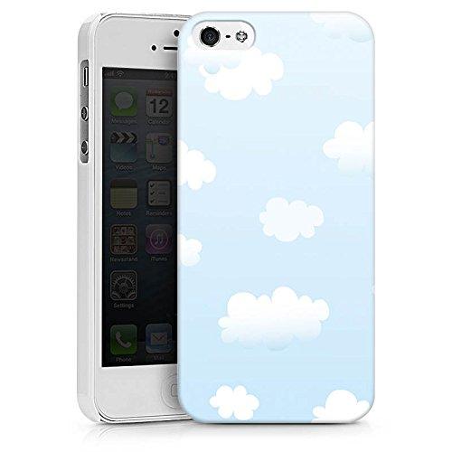 Apple iPhone X Silikon Hülle Case Schutzhülle Wolken Himmel Wolkenmuster Hard Case weiß