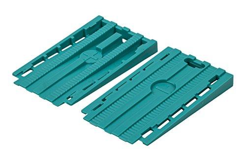 Wolfcraft 6946000 Cales Universelles Fonction 2 en 1 en Plastique35 x 6 x 60 mm Set de 30 Pièces