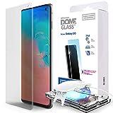 Galaxy S10 Protector de Pantalla del Teléfono, [Dome Glass] Vidrio Curvo Fácil de Instalar de Whitestone (1 Pieza) 1pack