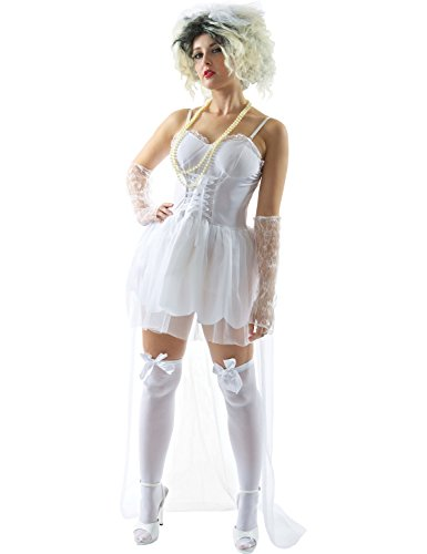 80s Pop Bride Costume - -