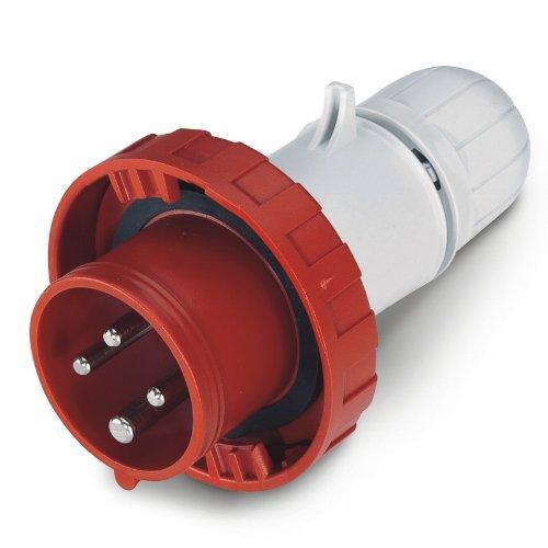 Scame 218.1637RV Conector Eléctrico, 415 V, Rojo