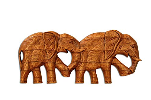 G6 Collection Wanddekoration Elefant, Holz, handgefertigt, rustikal, handgefertigt, Dekoration