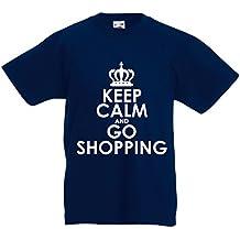 N4579K La camiseta de los niños Keep Calm and Go Shopping!