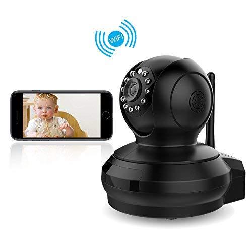 Überwachungskamera, CE-Link IP Kamera, 1080P HD Wireless WiFi Kamera IP Cam für Smartphone/PC Email Alarm Schwarz -