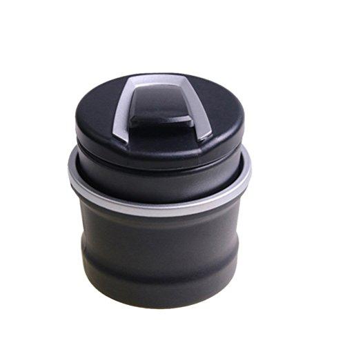 VORCOOL Tragbare Auto Zigarette Aschenbecher mit LED-Licht und Deckel - Auto Getränkehalter Aschenbecher