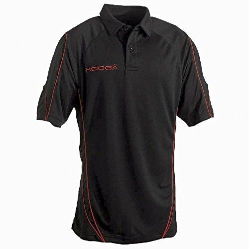 KooGa Herren Polo Shirt Pro Technology Teamwear Sports Marineblau/Weiß