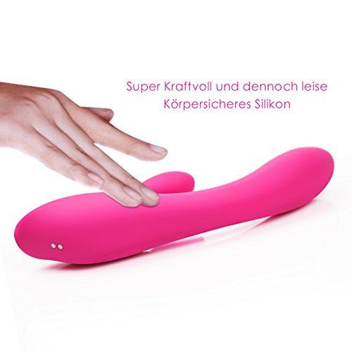 Vibratoren für Sie Klitoris und G-punkt mit Stoßfunktion - Adorime Silikon Rabbit Vibrator Analvibrator Dildo Erotik Sexspielzeug für Frauen und Paare mit 7 Vibrationsfrequenz - 7