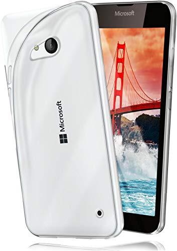 moex Microsoft Lumia 550 | Hülle Silikon Transparent Klar Clear Back-Cover TPU Schutzhülle Dünn Handyhülle für Nokia Lumia 550 Case Ultra-Slim Silikonhülle Rückseite