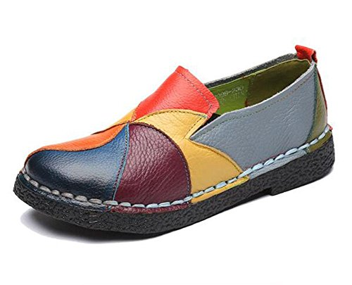 miste stile basse con morbide tacco a etnico a 1 scarpe basso morbide Scarpe KUKI morbide mano 5HISRwq