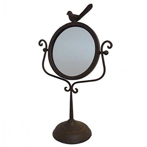 miroir-poser-de-type-psych-sur-pied-en-fonte-marron-motif-oiseau-glace-de-coiffeuse-27x45cm