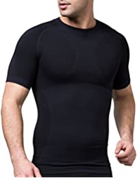 SODACODA Herren Shirt - Sport Kompressions Funktionswäsche - Kurzarm Hemd