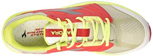 Diadora Nj-404-2, Scarpe da Corsa Uomo Grigio Chiaro/Rosso