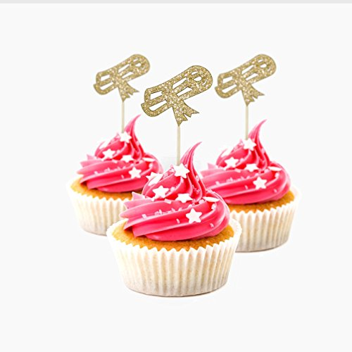 Graduation Cupcake Topper Farbe Gold 12Pack Dekoration Kuchen Graduation Baby Dusche San Valentine