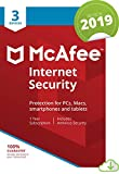 McAfee Internet Security 2019, 3 Device, 1 Year, PC/Mac/Android/Smartphones [Online Code]
