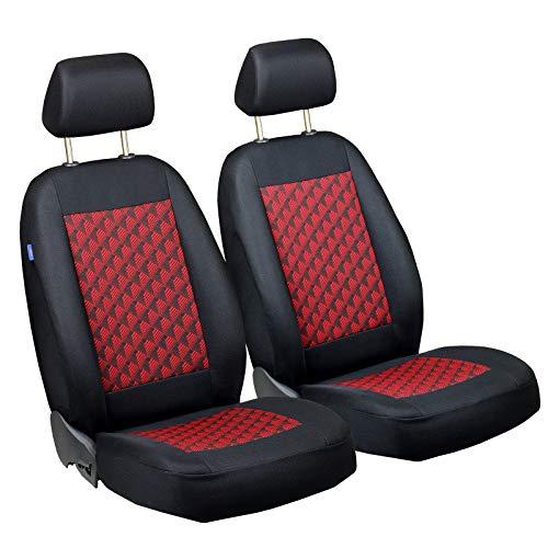 Zakschneider Matrix Vorne Sitzbezüge - für Fahrer und Beifahrer - Farbe Premium Schwarz-rot Effekt 3D - Sitzbezüge Matrix Auto Toyota