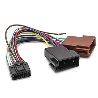 Adapter Universe DIN ISO Auto Radio Adapter Kabel Stecker 16 Pin Kabelbaum für JVC KD-ADV KD-AV