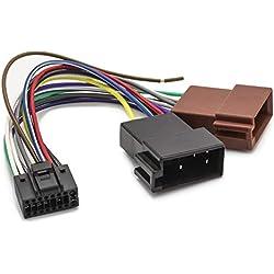 Universe® Câble Adaptateur DIN ISO pour autoradio Adaptateur 16Broches câble AV F JVC KD ADV KD Coton de