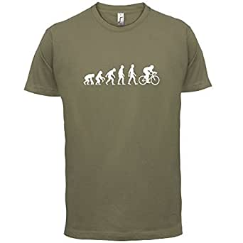 Evolution of Man - Men's Cycling T shirt - Dressdown- Small - Khaki