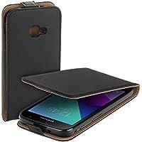 yayago Flip Tasche für Samsung Galaxy Xcover 4 Schutzhülle Flip Case Hülle Klapphülle Schwarz