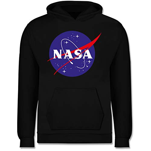 Shirtracer Up to Date Kind - NASA Meatball Logo - 12/13 Jahre (152) - Schwarz - JH001K - Kinder Hoodie