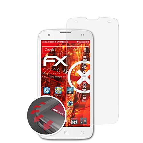 atFolix Schutzfolie passend für MobiWire Ahiga Folie, entspiegelnde & Flexible FX Bildschirmschutzfolie (3X)
