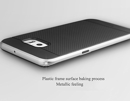 ae mobile accessorize AEMA (TM) Original iPaky FOR Samsung Galaxy Note 5 Brand Luxury High Quality Ultra-Thin Dotted Silicon Black Back + PC SILVER Frame Bumper Back Case Cover Black