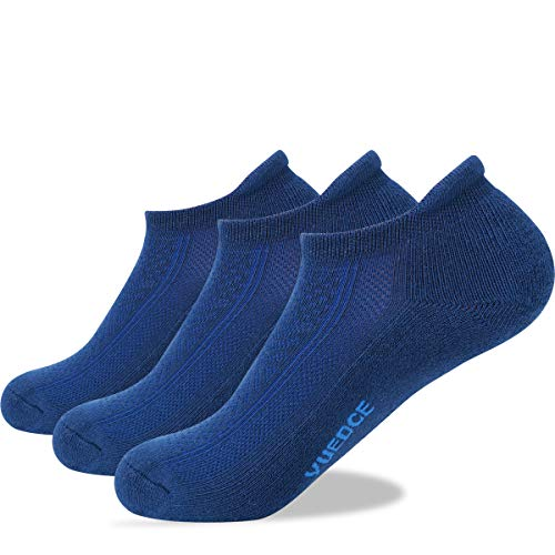 YUEDGE 3 Paar Unisex No Show Sport Sneakersocken Running-Socken für Herren Damen (XL)