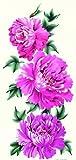 spestyle impermeable y no Tóxico caliente venta de moda y colorido morado y rosa peonía flores realistas Tatuajes Temporales Pegatinas para las mujeres