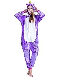 EraSpooky Unisex Adulto Animales Unicornio Pijamas Ropa de Dormir Vestid