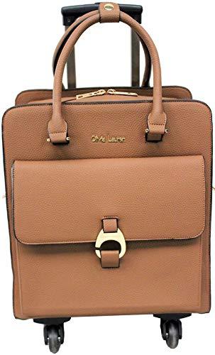 Aktenkoffer Mit Rädern Laptop-taschen (Damen Trolley-Tasche-Aktentrolley-Aktentasche-Aktenkoffer-4 Rollen-Braun-Bowatex)