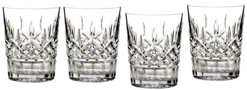 Waterford Crystal Double Old Fashioned Glasses 12 Oz Set of 4 by Waterford Lismore Waterford Lismore Double Old Fashioned