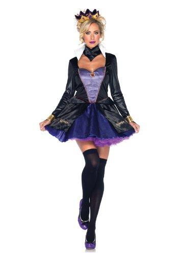 Preisvergleich Produktbild Leg Avenue 85011 - Evil Königin Kostüm Set, Größe S, schwarz/lila