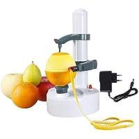 Vicloon Pelador Eléctrico para Fruta y Verdura,Blanca - (Adaptador Incluido)