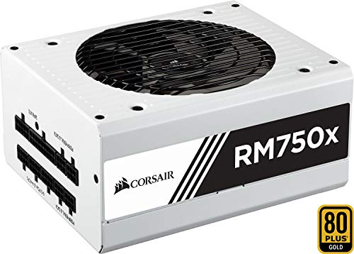 Corsair RM750x PC-Netzteil (Voll-Modulares Kabelmanagement, 80 Plus Gold, 750 Watt, EU) weiß - 600w 10 Pin