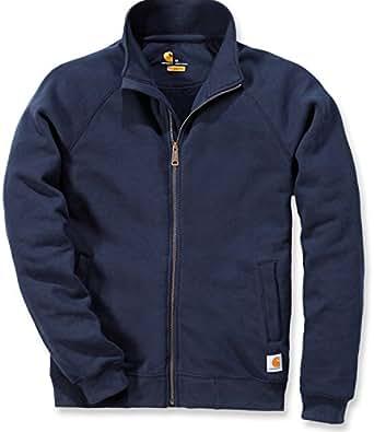 Carhartt .K350.472.S003 Midweight Mock Neck Zip Front Sweatshirt, Colour: New Navy, Size: X-Small