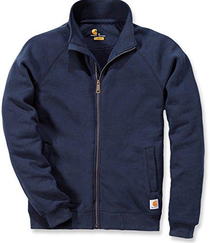 Carhartt .K350.472.S004Mittelschweres Sweatshirt mit Mockneck-Kragen und vorderem Reißverschluss, Farbe: Navy-blau, Größe: klein