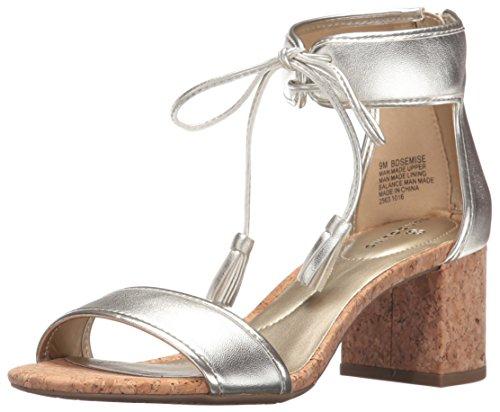 Bandolino Damen Sandalen, Platin, 38.5 EU Bandolino Heels