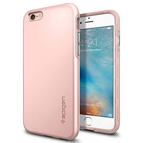 iPhone 6S Hülle, Spigen® [Thin Fit Hybrid] Passgenaues [Rose Gold] Premium Hart-PC Schale / Schlanke Handyhülle / Schutzhülle für iPhone 6/6S Case, iPhone 6/6S Cover - Rose Gold (SGP11781) (Gold I Phone 6 Cover)